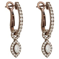 Zoe Diamond & Chocolate Gold Drop Earrings at Barneys.com