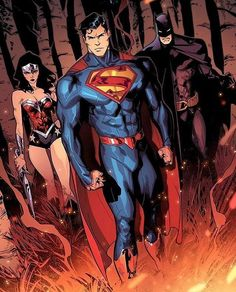 Superman batman and last but not least wonderwoman