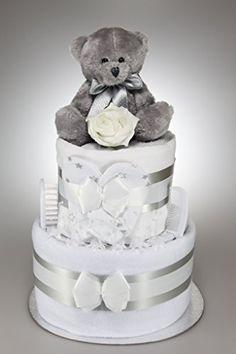Baby Boy Girl Unisex Nappy Cake With Silver Teddy Bear Ne... https://www.amazon.co.uk/dp/B00UTT2910/ref=cm_sw_r_pi_dp_lJ9DxbEJ94KS8