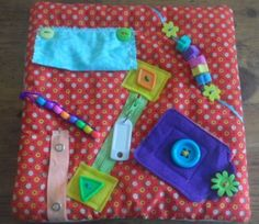 SOLD - Small-Fidget-Quilt-for-Alzheimers-Dementia-Autism-Stroke-Sensory- Tactile - made by The Fairy Felt Mother