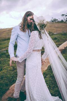 Boho Wedding Dresses 2015 - Daughters of Simone see more at http://www.wantthatwedding.co.uk/2015/04/07/boho-wedding-dresses-2015-daughters-of-simone/
