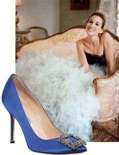 The Blue Manolo Hangisi Pumps and Carrie Bradshaw | Shoes CH