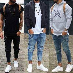 Sneakers Men Casual Style Fashion Ideas For 2019 Mode Outfits, Casual Outfits, Fashion Outfits, Style Fashion, Trendy Fashion, Cool Outfits For Men, Fashion Men, Fashion Photo, Mode Masculine