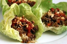 Lettuce Wraps...need to try this one night!  Supposed to be better than PF CHANGS!