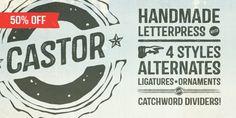 Castor (50% discount, from $0.00) - http://fontsdiscounts.com/castor-50-discount-0-00/