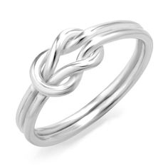 925 Sterling Silver Infinity Love Knot Band Ring for Women: Jewelry