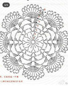 Crochet Knitting Handicraft: crochet motifs Free Crochet Doily Patterns, Crochet Baby Dress Pattern, Crochet Motif, Crochet Doilies, Crochet Flowers, Crochet Stitches, Crochet Bags, Crochet Animals, Free Pattern