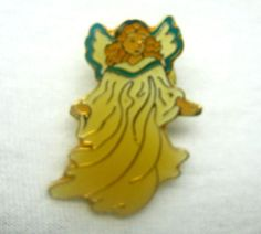 VINTAGE CHRISTMAS BROOCH Hat Tac Pin ANGEL Retro Xmas Holiday Fashion Jewelry  #Unbranded