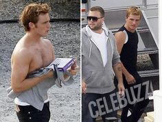 Ladies, it's happening. Pap photos from the set of Catching Fire. Sam as Finnick, and a dapper looking Josh.     **Rae is currently in the middle of a mad dsah to finish decorations for a birthday party, so I am filling the void with hot man candy. Love you, Rachael!**-Amanda