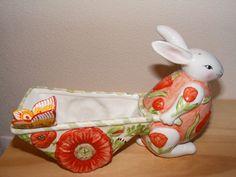Villeroy & Boch Velikonoce Delight Velikonoční listová loď Bunny Rodinná jarní dekorace Velikonoční dekorace | Sezónní dekorace - Zeppy.io
