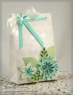 Stampin' Up Stanz- und Falzbrett für Umschläge, Punch Board Gift Bag, Anleitung, Stempelset Flower Patch, Framelits Blütenzauber