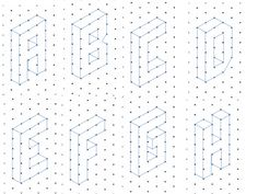 The alphabet, A to Z, written in capital letters on isometric paper. Students can copy the letters to write their name or initials on isometric paper.                   ...
