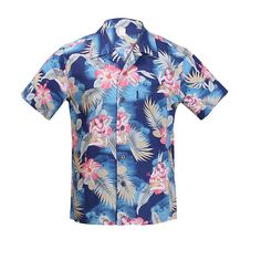 2016 New Cotton Short Sleeved Hawaiian Shirt Men Us Size Beach Tourism Leisure Hawaii Shirts S