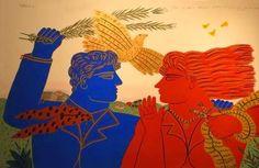 ΑΛΕΚΟΣ ΦΑΣΙΑΝΟΣ: 1935 Painter Artist, Artist Art, Sculpture Art, Sculptures, Mediterranean Art, Greece Painting, Greek Design, Video Artist, Greek Art