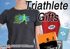 Do you know someone that recently completed a triathlon? Well give them a congratulatory gift from Chalk Talk Sports!