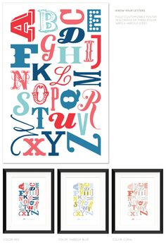 Know Your Letters  - A Typographic Alphabet Poster