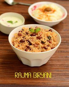 Rajma Biryani Recipe-Rajma Rice-Sunday Lunch Recipes Series 28 | Chitra's Food Book