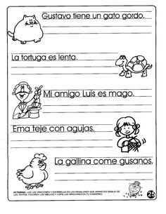 Gusïgvo tiene un goïo gordo. Lo gallina come gusanos. -)= L. IVIDAD. - LEE LAS O CIONES Y ESCRÍBELAS EN LOS RE...