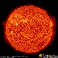 The hourly sun (at 08:45 pm  UTC on 26 January 2013)