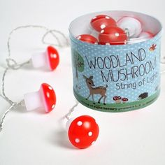 String of little mushroom fairy lights * The Pippa & Ike Show