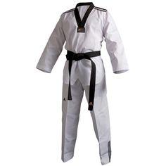 Dobok Taekwondo ADIDAS ADI- Club II (3 rayas) cuello negro - €35.00   https://soloartesmarciales.com    #ArtesMarciales #Taekwondo #Karate #Judo #Hapkido #jiujitsu #BJJ #Boxeo #Aikido #Sambo #MMA #Ninjutsu #Protec #Adidas #Daedo #Mizuno #Rudeboys #KrAvMaga #Venum