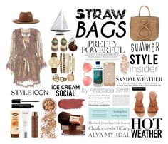 """""""SttrawBags"""" by nastya-styles-i ❤ liked on Polyvore featuring ViX, Authentic Models, Etro, Forever 21, H&M, Jessica Carlyle, Leila, In Your Dreams, Lancôme and Vita Liberata"""