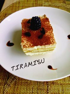 Recipe – TIRAMISU Tiramisu is a classic Italian pudding like dessert which means 'lift me up'. Traditionally, it is made with raw eggs layered with ladyfingers which are light and sweet sponge cake biscuits. It is considered semifreddo, a dessert served cold but not frozen. A decadent dessert enjoyed in any occasion.  There are many versions of tiramisu around the world. This recipe, is the easiest one I have come across.