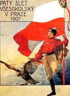 Svobodné noviny na internetu - Fotoalbum - 150 let Sokola - V. všesokolský slet (1907) – plakát Propaganda Art, Eastern Europe, Art Drawings, Universe, Earth, Posters, Baseball Cards, Life, Drawings