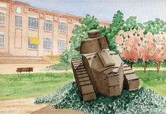 Ancienne usine Renault de Billancourt (Paris) le char FT 17 de 1917/18