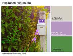 Charmant Inspiration Printanière : Une Association Tonique (mauve Et Vert), Tempérée  Par Le Gris