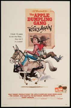 "Walt Disney's ""The Apple Dumpling Gang Rides Again"" (1979) Stars: Tim Conway, Don Knotts, Tim Matheson, Kenneth Mars, Elyssa Davalos, Jack Elam, Harry Morgan, Ruth Buzzi ~ Director: Vincent McEveety"