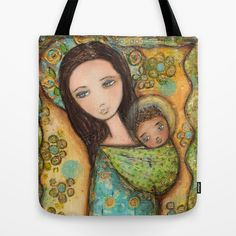 New just listed! Mother by Flor Larios Tote Bag by Flor Larios Art - $22.00