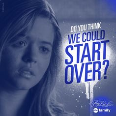Alison trying to start fresh.   Pretty Little Liars Quotes