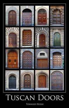 Tuscan Doors Tuscan Doors Tuscan Doors The post Tuscan Doors appeared first on Warm Home Decor. Tuscan Style Homes, Tuscan House, Style Toscan, Tuscan Home Decorating, Italian Doors, Warm Home Decor, Front Door Design, House Doors, Mediterranean Homes
