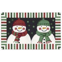 Nourison Enhance Double Snowman Multicolor Accent Rug