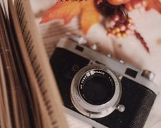 Old but gold ✨ • • • #oldcamera #filmcamera #vintage #retro #lomo #lomography #vintagesoul #book #leaves #pages #cozy #warm #photooftheday #photography #tumblr #pinterest #analogphotography #memories #bed #decor #instadaily #instagramers