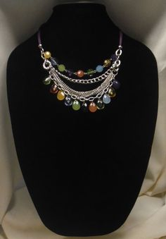 Beaded Statement Necklace by SharpSellers on Etsy
