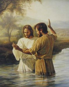 John baptizing Jesus.  Can you imagine what that must have felt like for John?  Talk about surreal