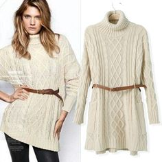 Cheap dress womens, Buy Quality sweater fashion directly from China sweater dress knitting pattern Suppliers: New customer = Free Gifts with the order!! come to take !  2013 womens fashion european sashes long shrug sweater d