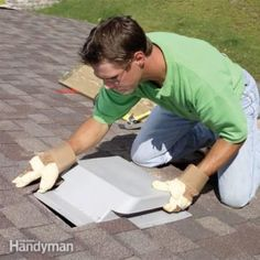 Adequate roof ventilation reduces cooling bills, extends shingle life, prevents roof rot and ice dams in winter. Attic vents are easy to install.