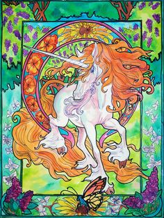 art nuevo unicorn by jupiterjenny on DeviantArt