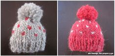 mis nancys, mis peques y yo, tutorial gorros de lana para nancy, gorros terminados Knitted Hats, Crochet Hats, American Girl, Winter Hats, Dolls, Knitting, Ideas Para, Vestidos, Doll