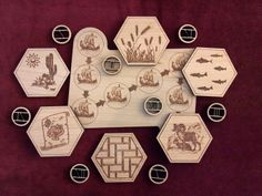 Cool Wooden Settlers of Catan game pieces!