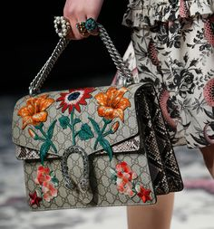 Gucci Gets Detailed For Its Spring 2017 Runway Bags
