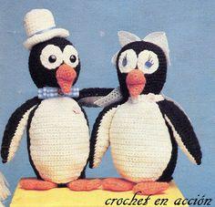 Crochet In Action: amigurumis Bride and Groom Penguins