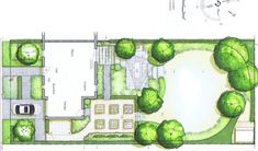 Jardin de lotissement vue en plan modification