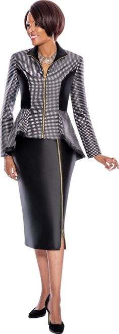 7496 TERRAMINA  POLYESTER 2 PC SUIT ON SALE #SkirtSuit