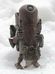 """AVAILABLE NOW: Small Angry Monster's """"Think Twice"""" custom threeA Armstrong Robot!"""