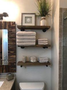 47 Incredible Diy Bathroom Shelves Design Ideas To Try Asap - When it comes to home renovations, a popular area that is often targeted is the bathroom. With the range of affordable home DIY options available, thi. Diy Rustic Decor, Farmhouse Decor, Diy Home Decor, Modern Farmhouse, Farmhouse Style, Farmhouse Ideas, Country Decor, Industrial Farmhouse, Vintage Farmhouse