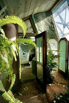 Earthship bathroom entrance